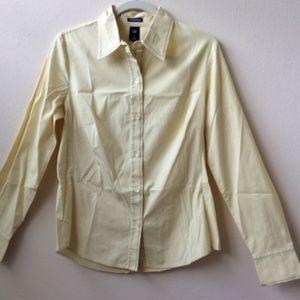 GAP Yellow button down shirt
